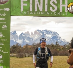 Rafael Lim Ultra Trail Running during Ultra Trail Torres del Paine's Third Edition 2016 in Provincia de Última Esperanza, Patagonia, Chile