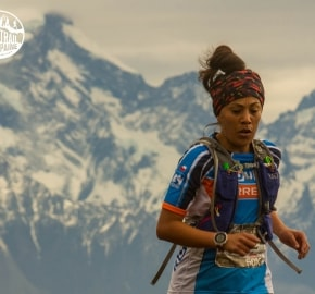 Cindy Ramírez Ultra Trail Running during Ultra Trail Torres del Paine's Third Edition 2016 in Provincia de Última Esperanza, Patagonia, Chile