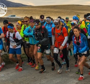 50K Starting Line Ultra Trail Running during Ultra Trail Torres del Paine's Third Edition 2016 in Provincia de Última Esperanza, Patagonia, Chile