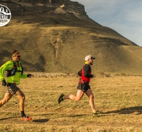 Emmanuel Acuña and Pablo Simonetti Ultra Trail Running during Ultra Trail Torres del Paine's Third Edition 2016 in Provincia de Última Esperanza, Patagonia, Chile