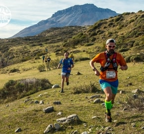 Juan Carols Pastén Ultra Trail Running during Ultra Trail Torres del Paine's Third Edition 2016 in Provincia de Última Esperanza, Patagonia, Chile