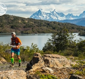 Juan Carlos Pastén Ultra Trail Running during Ultra Trail Torres del Paine's Third Edition 2016 in Provincia de Última Esperanza, Patagonia, Chile