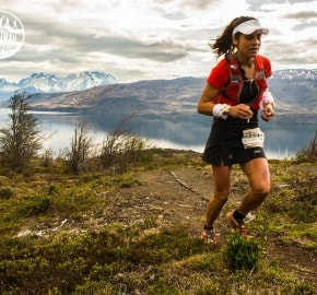 Veronica Bravo Ultra Trail Running during Ultra Trail Torres del Paine's Third Edition 2016 in Provincia de Última Esperanza, Patagonia, Chile