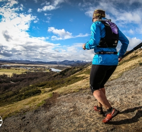 RMSB9521_roso_fb; Ultra Trail Running Patagonia for fifth edition of Ultra Paine 2018 in Provincia de Última Esperanza, Patagonia Chile; International Ultra Trail Running Event; Quinta Edición Trail Running Internacional, Chilean Patagonia 2018